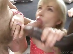 cock, mature, oral, threesome