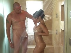Asa Akira is having a shower