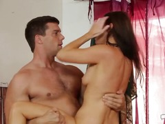 india summer,  brunette, deepthroat