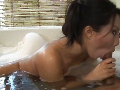 bath, cock, handjob, massage