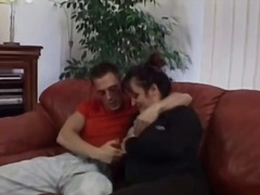 mature, brunette, blowjob, granny,