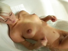 toys, masturbation, blonde, shower,