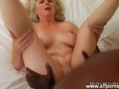 Perfect shaved mature pussy fucked by...