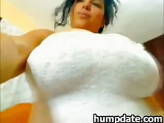 Latin MILF with large ...