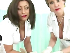 mature, british, nurses, uniform