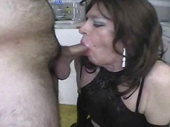 dee,  mature, blowjob, sucking,