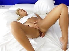 toys, dildo, blonde, masturbation,