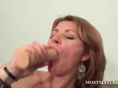 mom, masturbation, dildo, mature,
