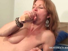 mom, dildo, toy, solo, toys, mature, masturbation