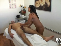 Sex appeal Asian intimate masseur Kat...