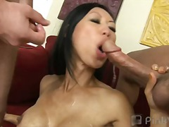 We were in the mood for Asian, but instead of General Tso, we got some Tia Ling! This eastern hottie had a tight body and a tight ass to go along with it. We knew we needed to break in her sample-sized asshole so we spread open her tight puckery a...