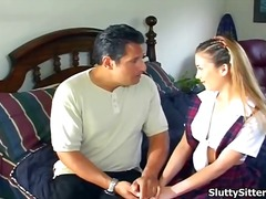 Hot babysitter reamed ... video