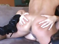 threesome, big-dick, black, face-fucking, big-tits, ass, girl-on-girl