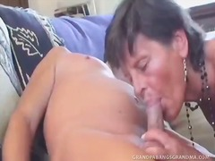 Grey-Haired Granny Sofie Gets A Doubl...