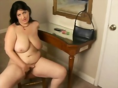 Chubby mature hairy br...