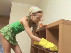 DrTuber Movie:Petite room cleaner penetrated...