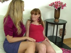 Julia Ann is pretending to help
