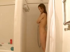 Petite 22yo russian taking a shower