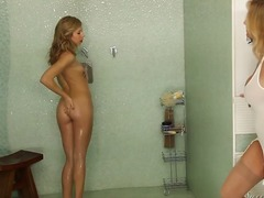 blonde, coed, cute, handjob, mom