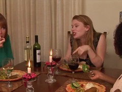 Madison Young is having dinner with