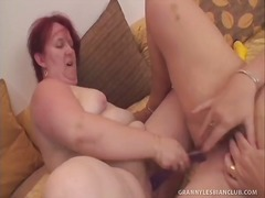 Grey-haired Granny Lesbians Get Off w...