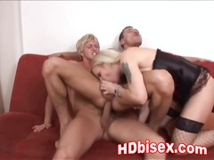 group, blonde, threesome, ffm, mmf