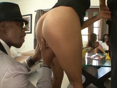 blowjob, ebony, milf, swallow,