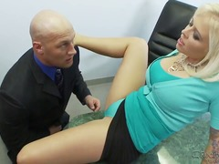 Amazing blonde whore Angel Vain gets