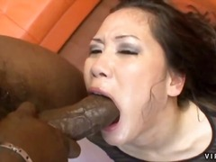 Girls gagging on big dick ... - 05:00