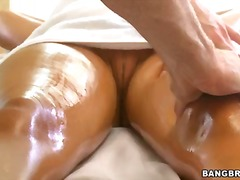 rachel starr,  massage, shaved, bang,