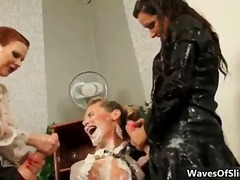 See: Horny blonde and brune...
