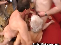 Thumb: Blonde nurse has group...
