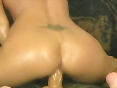 toy, cock, riding, booty, hard, cumshot