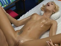 Horny blonde hottie co... video