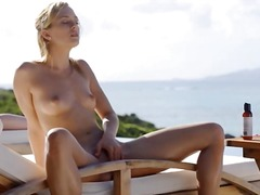 outdoor, blonde, babe, masturbation