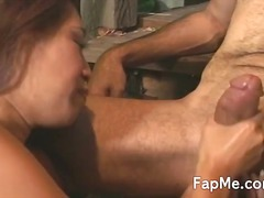fat, asian, outdoor, girl, playing, cock,