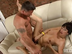mature, sucking, shemale, brunette,