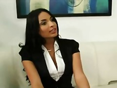 Busty Anissa Kate gets bent over the desk and fucked for a job