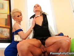 Horny blonde whores ge...