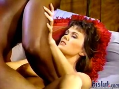 interracial, creampie, brunette