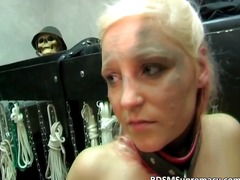 Blonde chick loves to be spanked part6