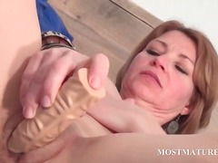 mature, toy, masturbation, older, mom, milf, redhead, hardcore, granny