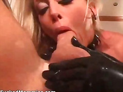 Bisexual blond moms fist pussies and ...