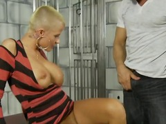 Amazing blonde Joslyn James is getting