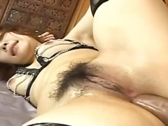 sexy asian anal fuck with lingerie