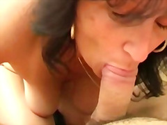 Penny is a skilful mature cock sucker