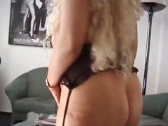 Mature chubby blonde p... video