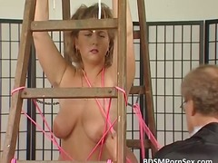 fetish, bdsm, tit, blonde, bondage,
