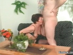 mature, fisting, pussy, brunette,