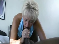 Mom Tracey sucks BBC and gets cum in ...